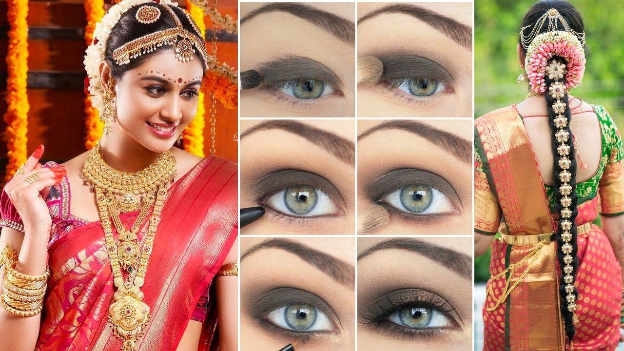 indian bridal #makeup #hairstyle & #sareedraping step by