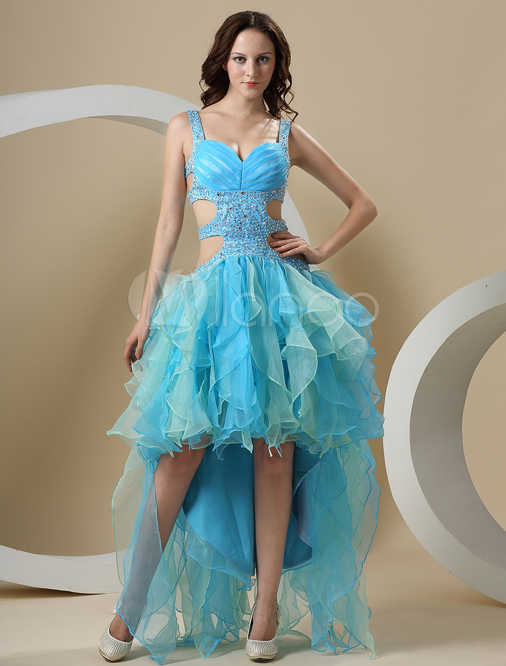 Milanoo.com Ltd #Prom Dresses #Blue #Long #Back #Short #Front #A ...