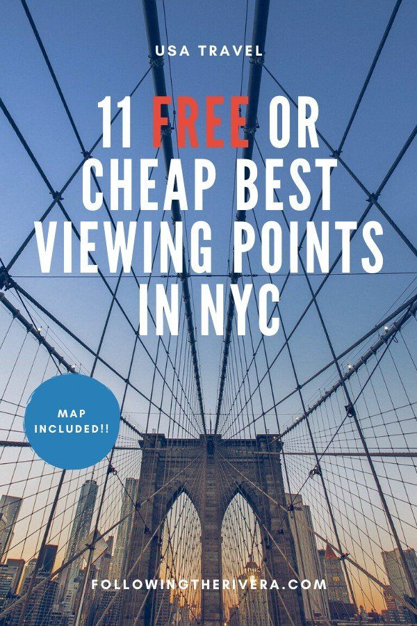 #newyorkcity may be expensive, but these top 11 viewing points are free, or cost very little. Save your money for other things in #nyc and concentrate on enjoying the view. #newyork #newyorktravel #nyctravel #nyctrip #usatravel #travel #traveltips #traveldestinations #travelideas #travelersnotebook #traveladvice #traveladviceandtips #traveltipsforeveryone #traveladdict #travelawesome #travelholic #travelguide #couplestravel