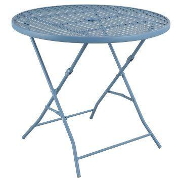 Metal Bistro Table   Blue   Room Essentials™