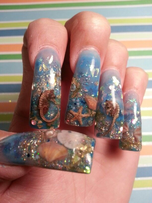 Aquarium Nails Too Long But I Would Love To Have This Shorter