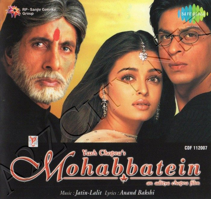 Mohabbatein (2000) mp3 songs and soundtracks download, mohabbatein.