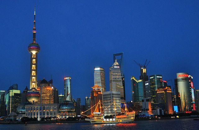 The Shanghai's night skyline. by marinfinito, via Flickr