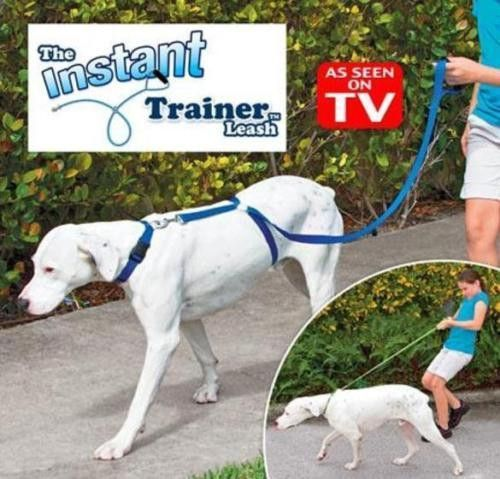 New Instant Trainer Dog Leash Trains Dogs Over 30 Lbs Stop