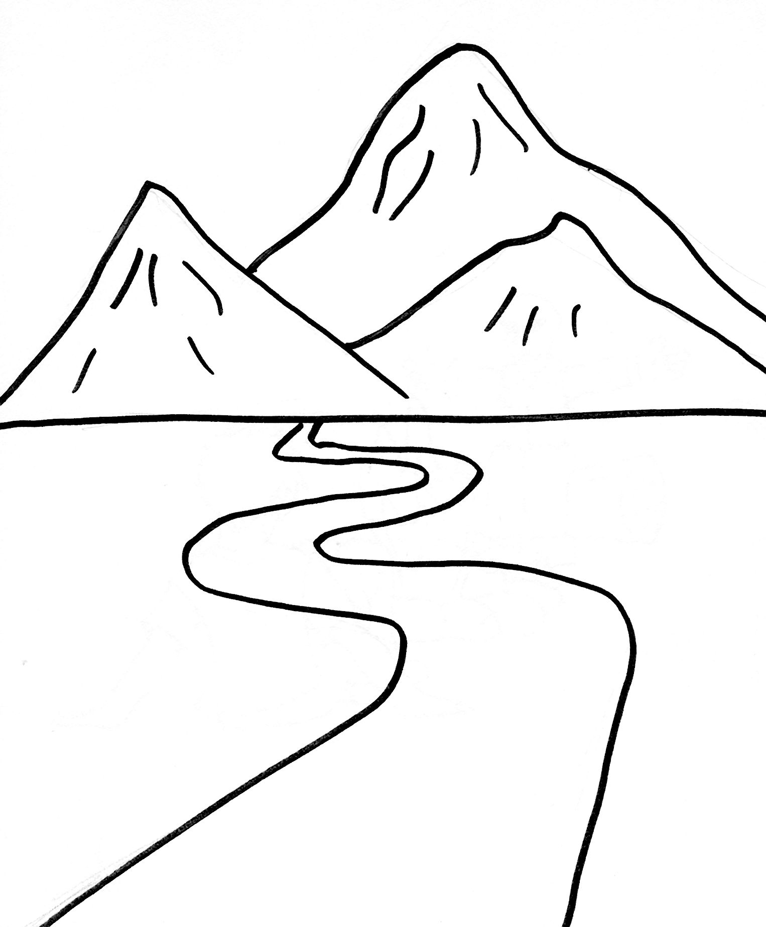 Pic4 Jpg 1526 1846 Mountain Drawing Coloring Pages Nature