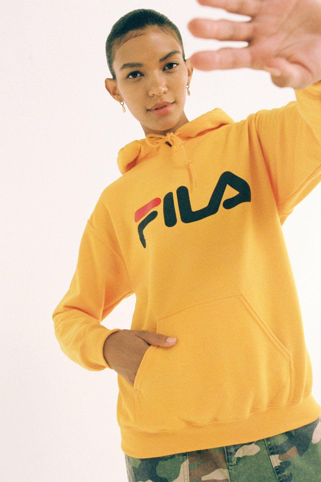 FILA UO Exclusive Logo Hoodie Sweatshirt in 2019  f05441af50