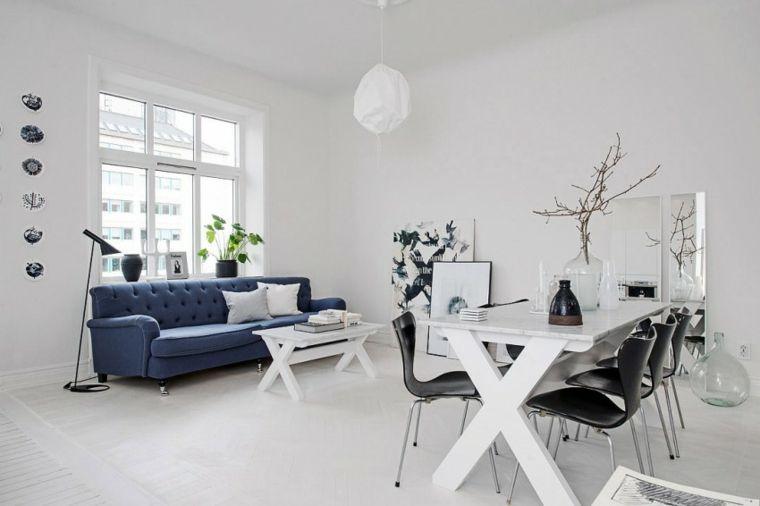 diseno estilo escandinavo loft salon comedor ideas | Cocina, comedor ...