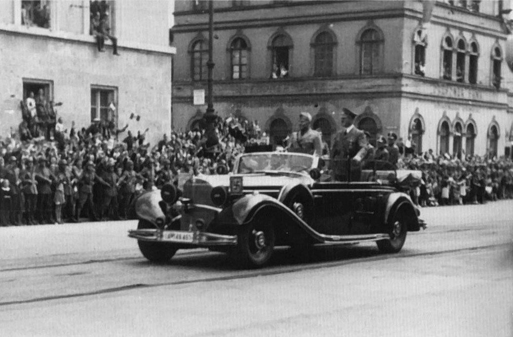 Adolf Hitler And Benito Mussolini At Mnchen Germany For The Munich