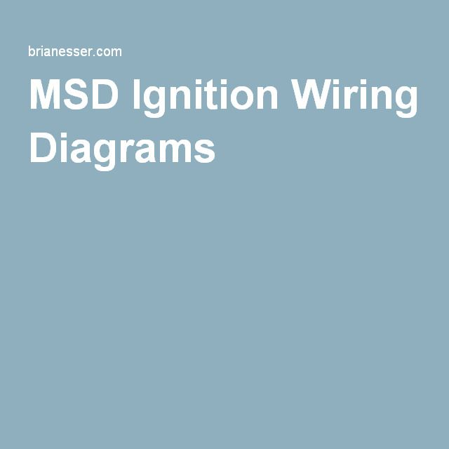 MSD Ignition Wiring Diagrams | car stuff | Pinterest | Automotive ...