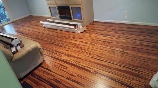Home Decorators Collection Strand Woven Honey Tigerstripe Bamboo 1 2 In X 5 1 8 In Wide X 72 In Length S Bamboo Flooring Flooring Home Decorators Collection