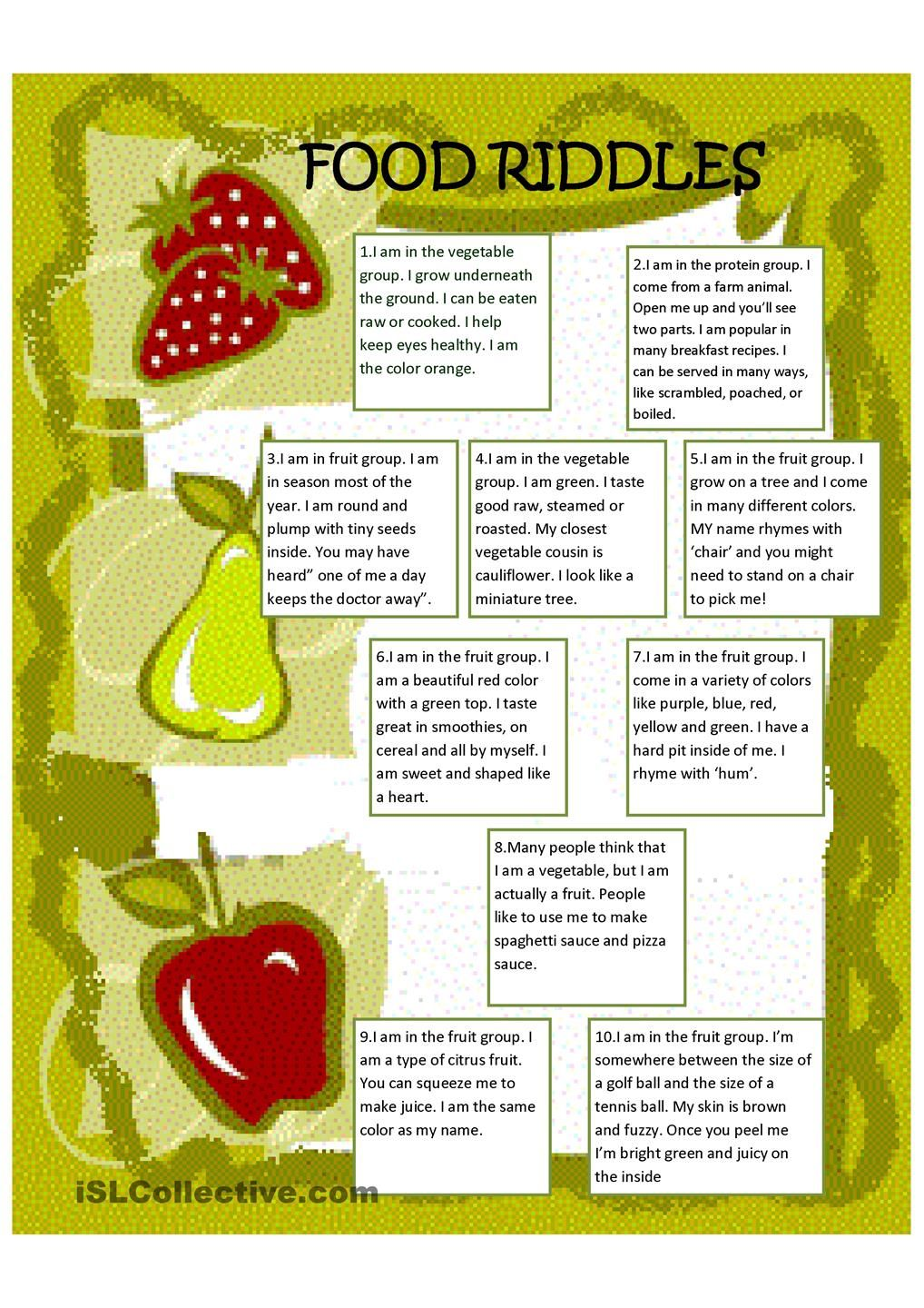 Vegetable riddles with answers 16