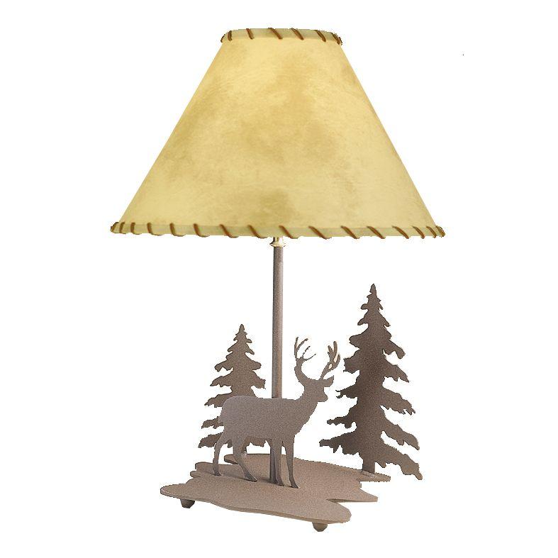 Deer Scene Cutout Table Lamp Lamp Rustic Lamps Table Lamp