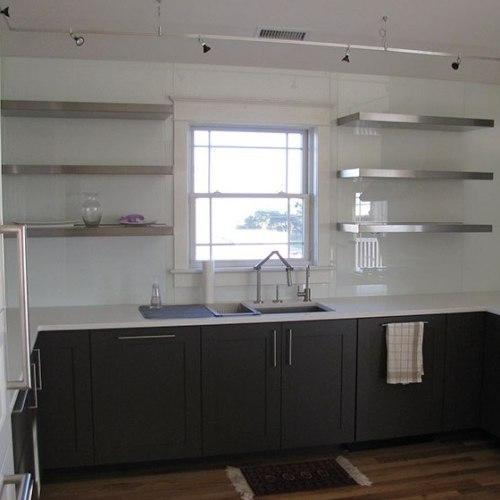 Stainless Steel Floating Shelf 12 Deep For Kitchens Bathrooms