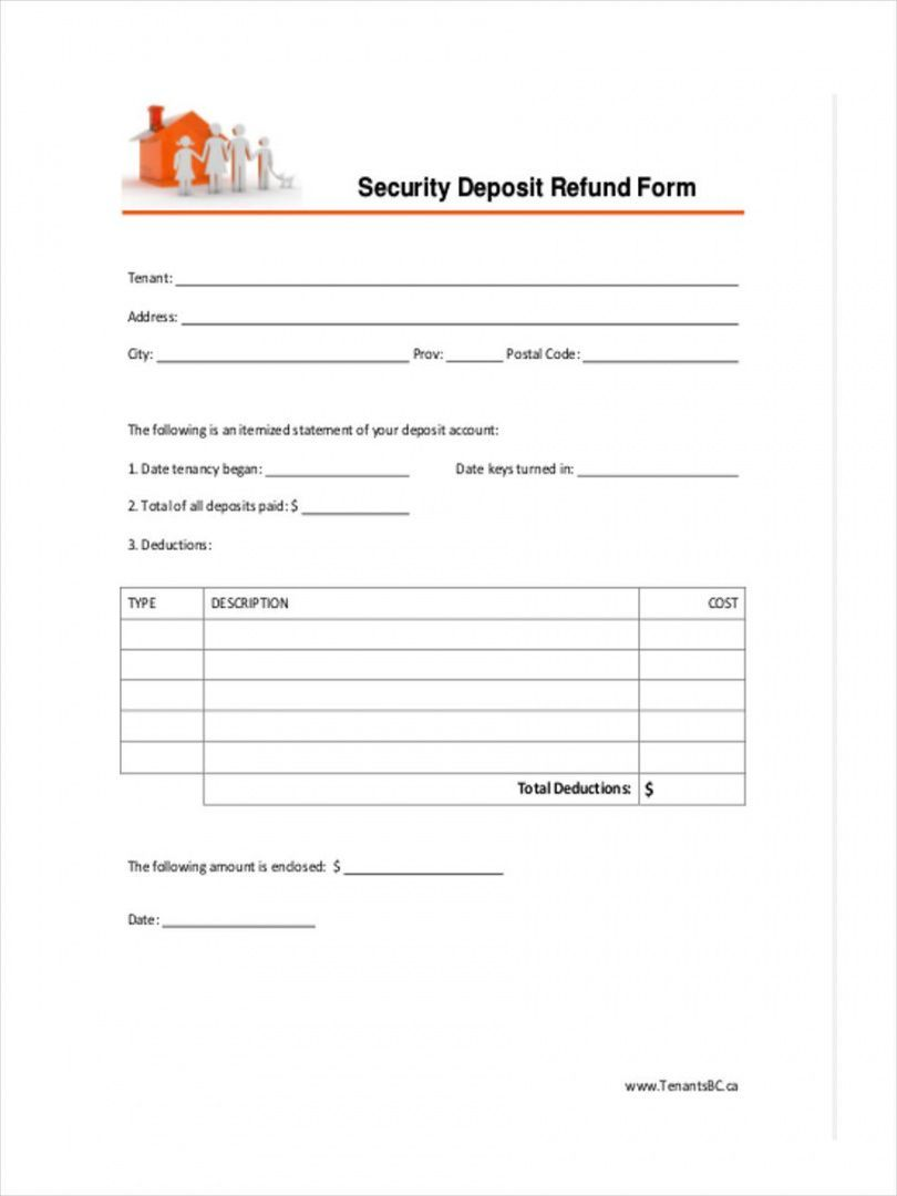 Get Our Image Of Rental Security Deposit Refund Form Certificate Of Deposit Being A Landlord Invoice Template
