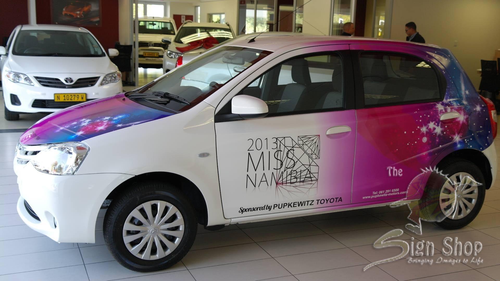 Miss Namibia 2013 vehicle branding