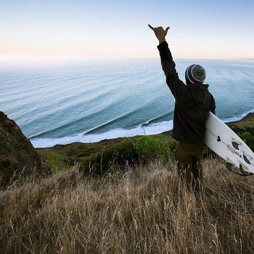 Waking up to a new swell hitting the New Zealand coast. #NewZealand #roadtrip #surf