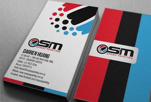 Osm spray painting business card card printing business cards and osm spray painting business card print reheart Gallery