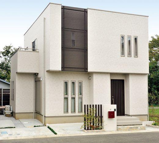 新築住宅の外観アイディア10選 箱型なナウトレンドデザイン: 外壁・外壁材のニチハ株式会社|第28回 NICHIHA SIDING AWARD 2011