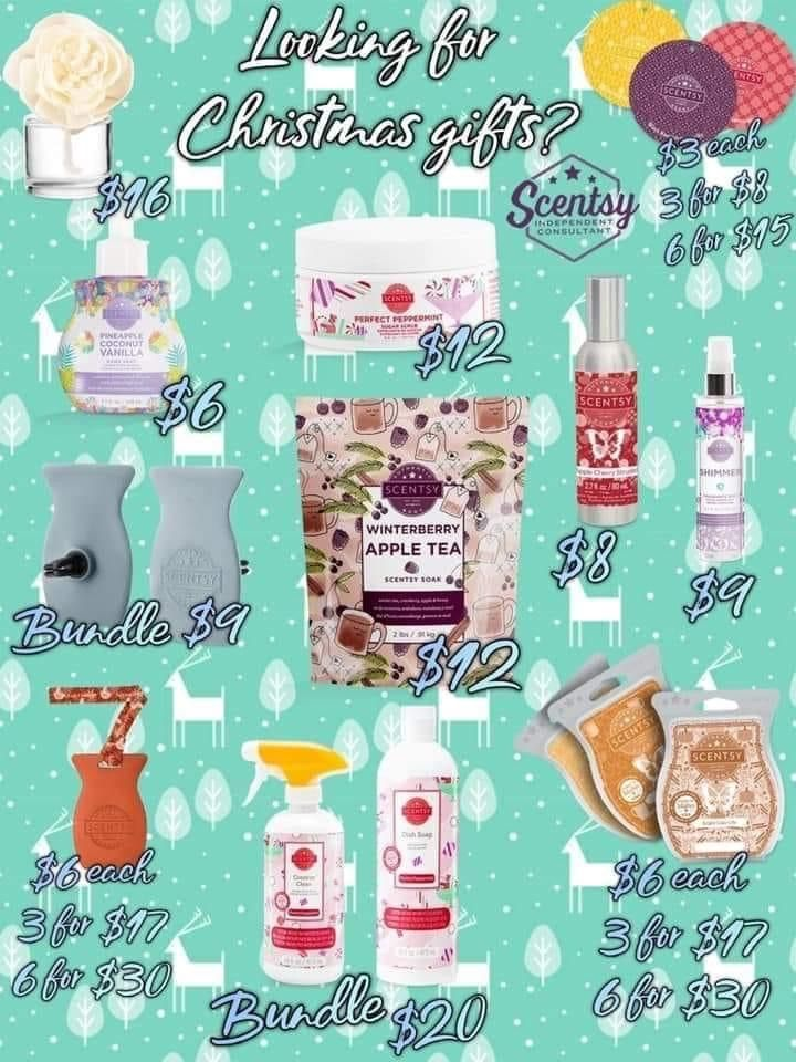 Chdistmas gift ideas all under $20 #giftsforher #giftsformom #gifts #christmas #selfcare #scentsy #carfreshener