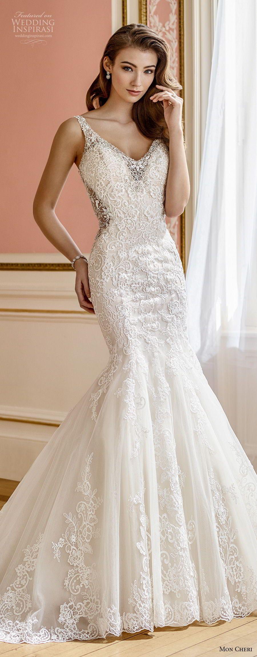 Elegant mermaid wedding dresses  Mon Cheri Fall  Wedding Dresses  Mermaid wedding dresses