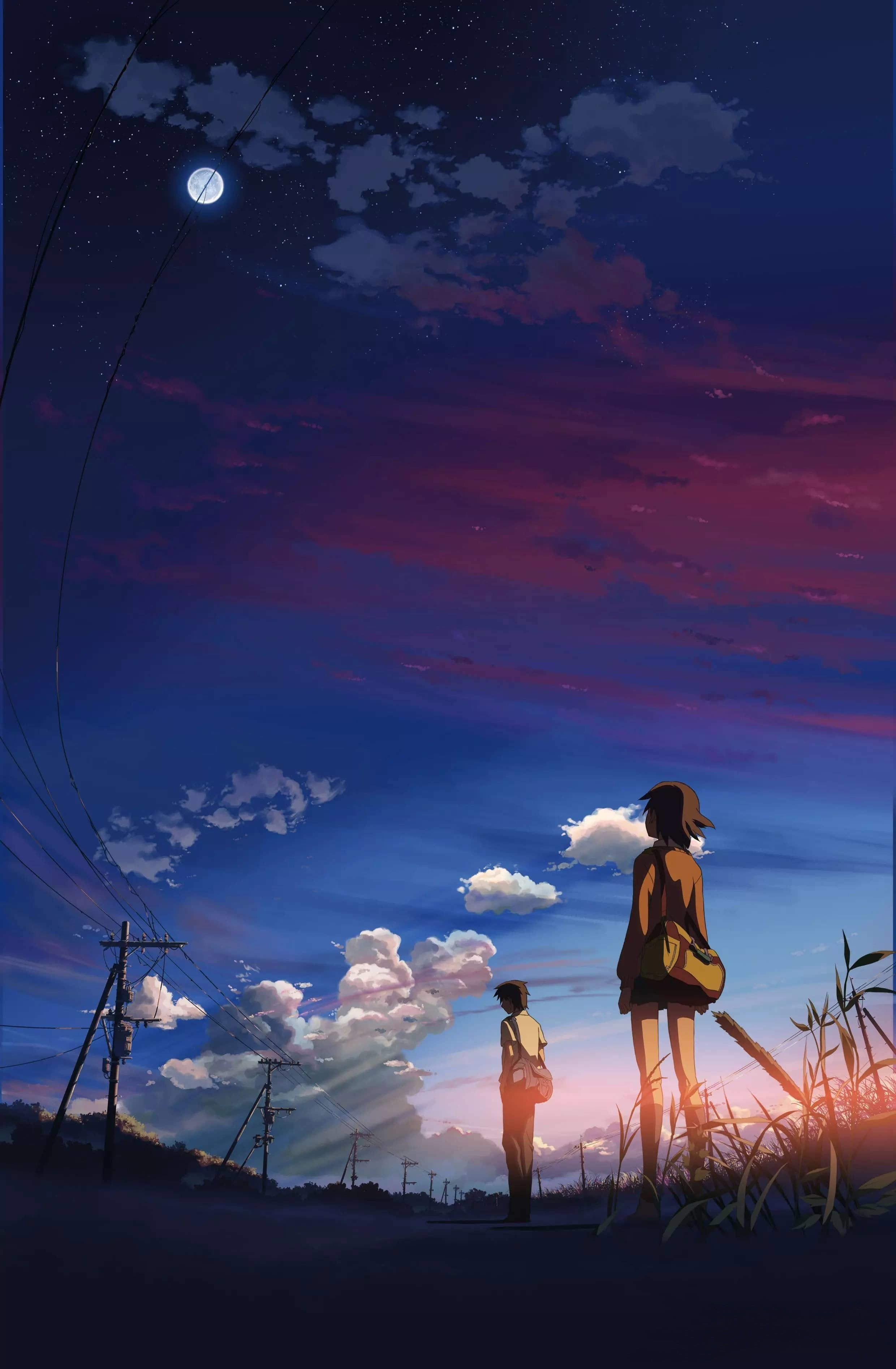 cartoon illustration 5 Centimeters Per Second anime