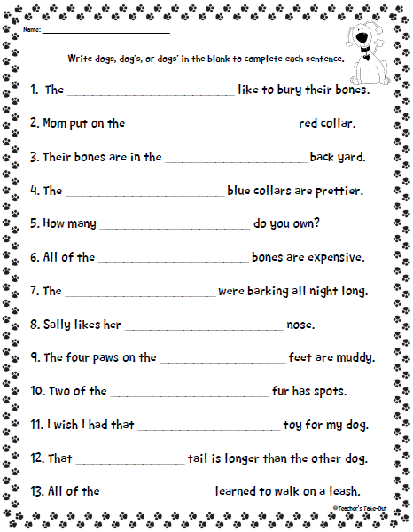 Plural Possessive Poster Freebie Teacher 39 S Take Out