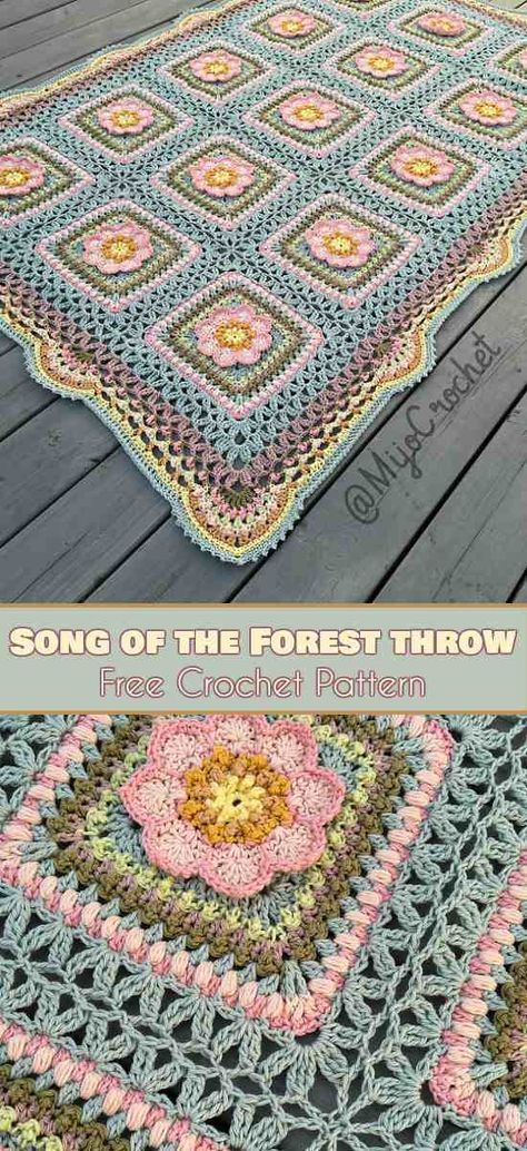 Song Of The Forrest Throw Free Pattern Free Pattern Blanket And Songs