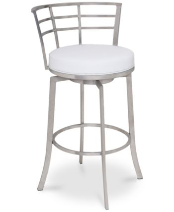 Viper 26 Counter Height Swivel Barstool In Brushed Stainless