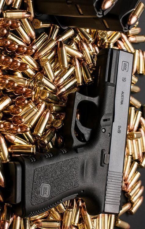 Pin On Black Gold Guns and bullets hd wallpaper