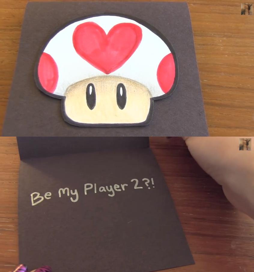 Cute Nerdy Valentines Day Card valentine card nerd gamer – Gamer Valentine Cards