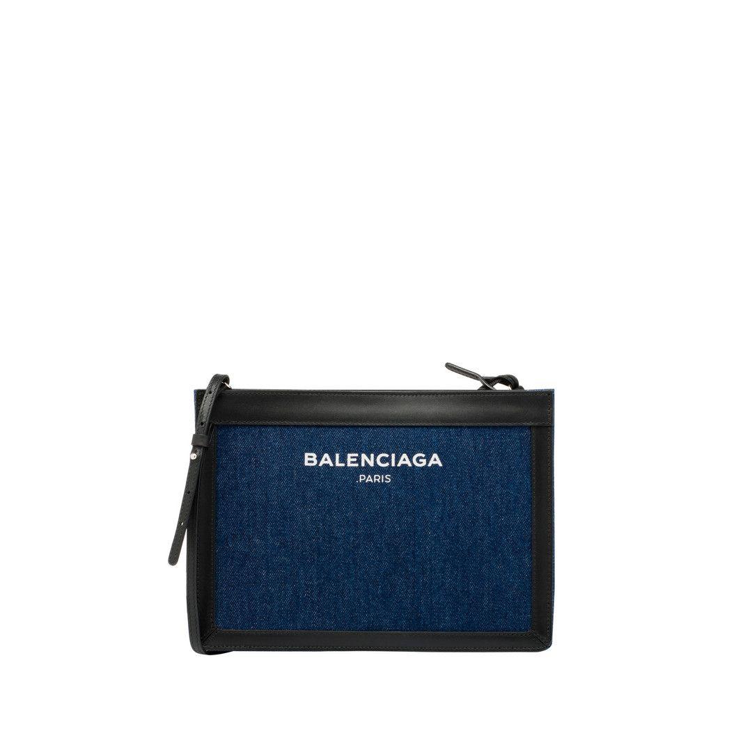 Balenciaga | Navy bag, Navy clutch