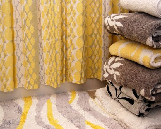 Gray And Yellow Bathroom Towels Bing Images House Stuff - Orange patterned towels for small bathroom ideas