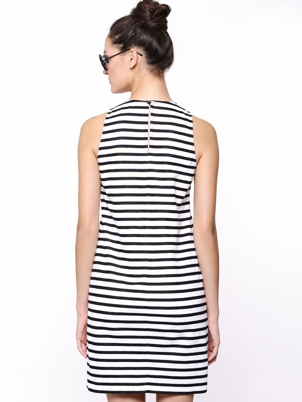b1e1c9d089 GAS Monochrome Striped Dress - Buy Women's Tunic Dresses online in India |  KOOVS