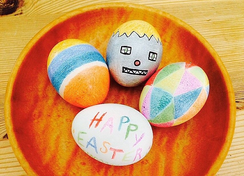 Colored pencil easter eggs kids art supplies colored