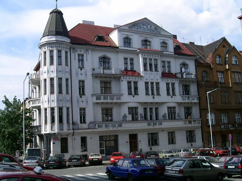 Condominio Hannauer -  Architetto Karel Hannauer - Praga, via Boleslavova 45/9