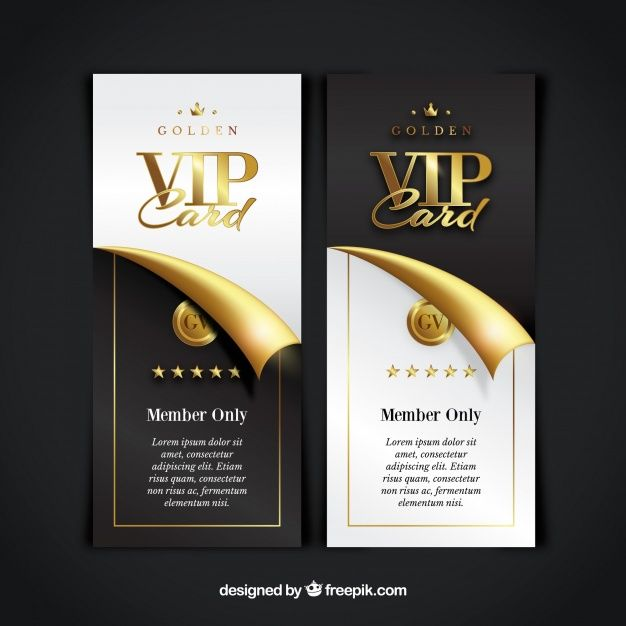 Vip Member Card Collection Vip Card Gift Card Template Vip Card Design