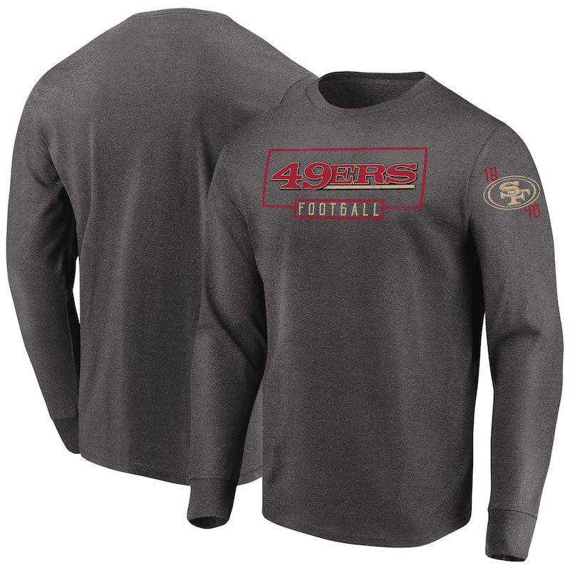 San Francisco 49ers Majestic Kick Return Long Sleeve T-Shirt - Heathered  Charcoal 6dd8f7e47