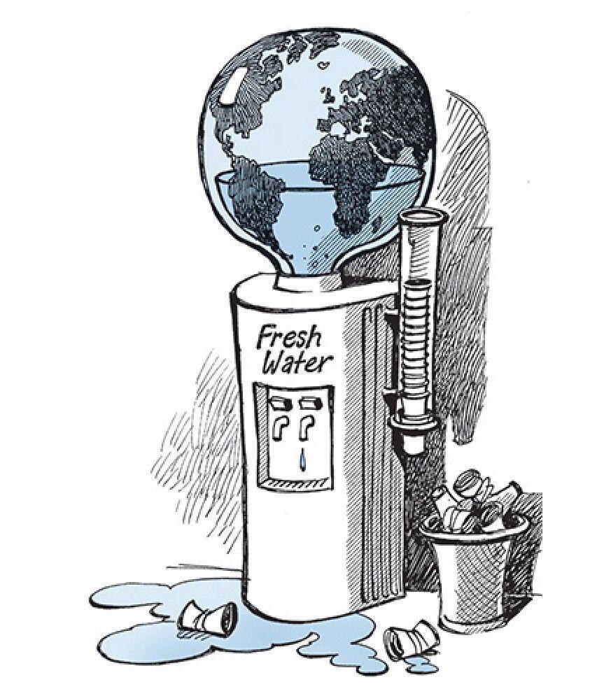 4 9 Desperdicio De Agua Arte Ambiental Medio Ambiente Dibujo Ilustraciones