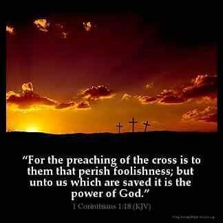 1 Corinthians 1:18 KJV #Bible #Godsword #scripture