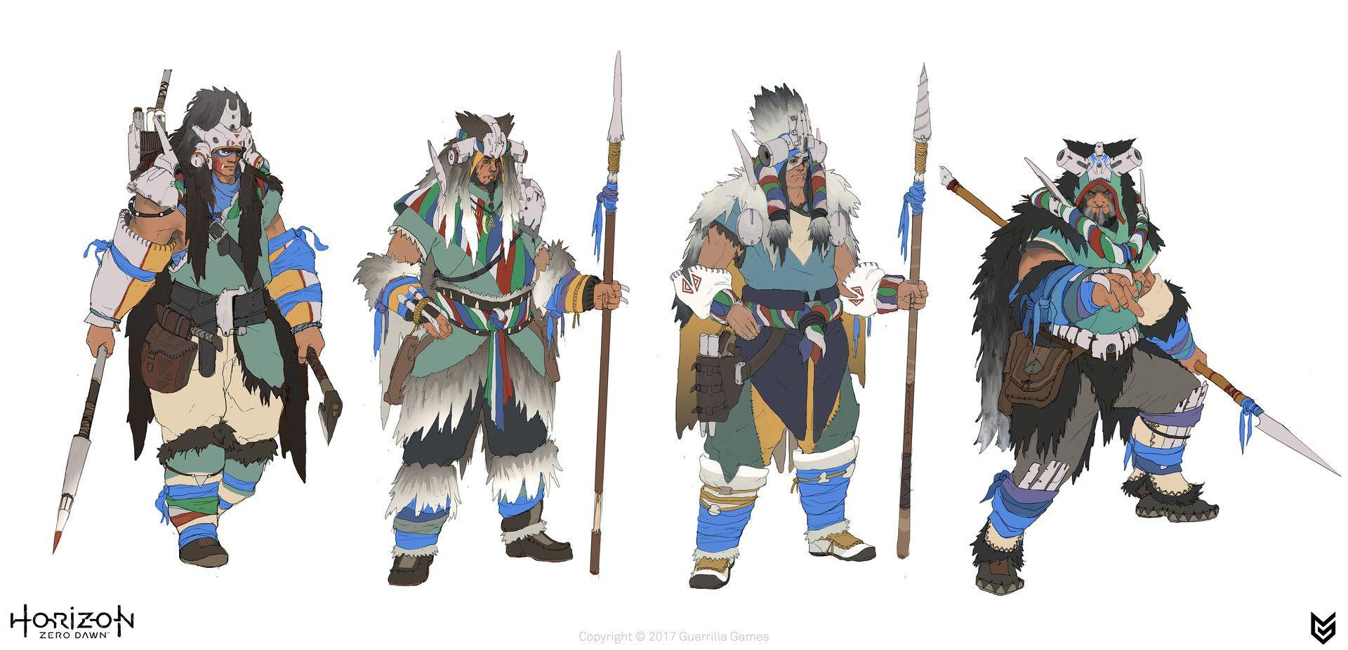 Artstation Horizon Zero Dawn Tribes Luc De Haan In 2019
