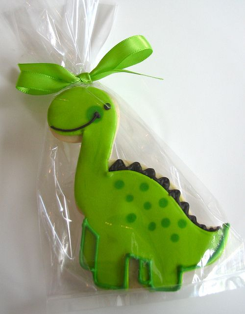 Green Dino cookie
