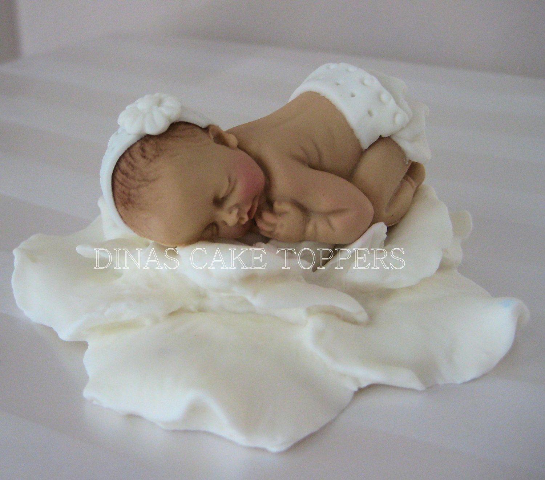 Christening Baptism Baby Girl Cake Topper Door Dinascaketoppers, $25,00