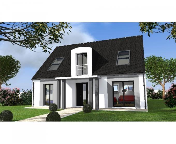 la maison moderne od on 133 pr sente une fa ade harmonieuse compos e d 39 un porche structur avec. Black Bedroom Furniture Sets. Home Design Ideas
