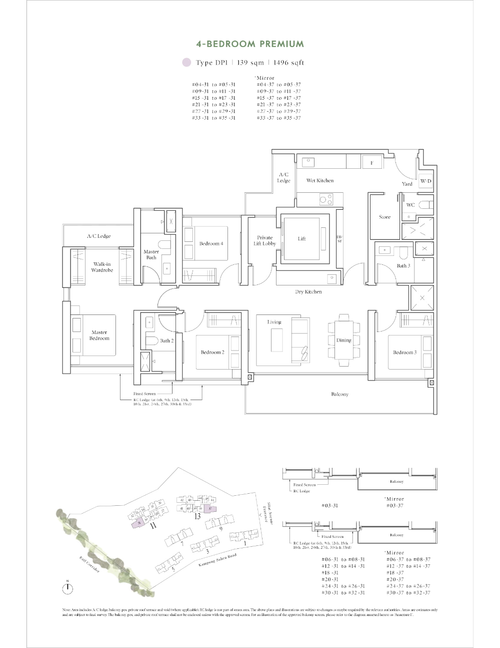 Site And Floor Plan Avenue South Residence Official Website Bernard Koh Sustainable Building Design Environmental Management System Site Plan