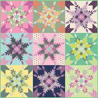 FEATHERED STAR MEDALLION QUILT QUILTING PATTERN from Pam/'s Piece by Piece *NEW*