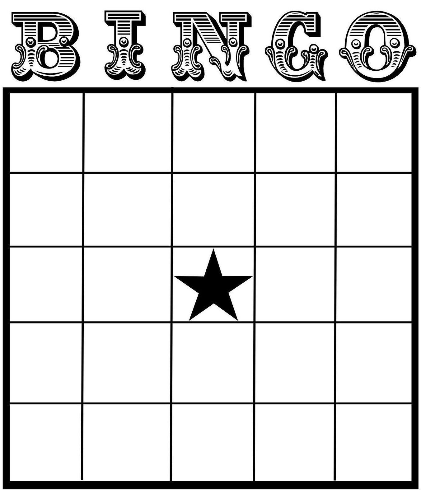 Blank Bingo Card Template Bingo Card Template Blank Bingo Cards