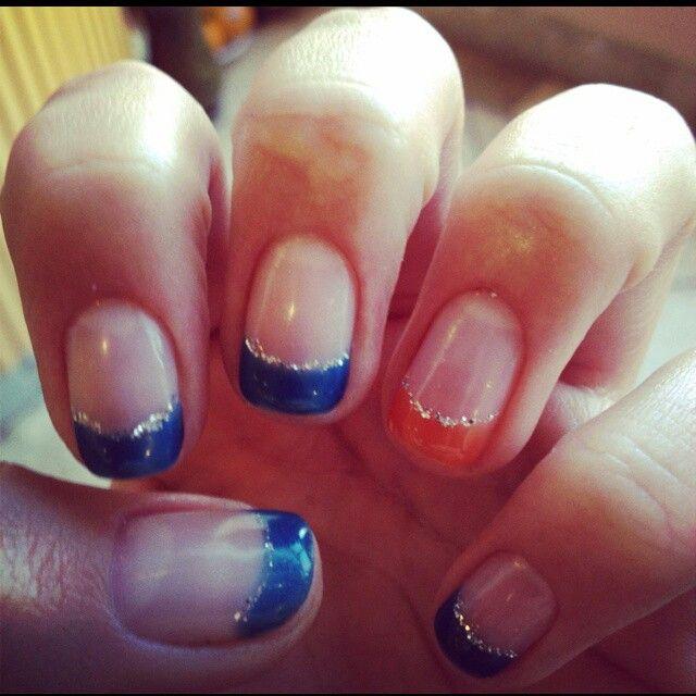 Blue orange tips