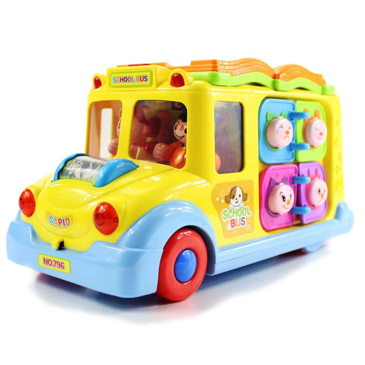 Fisca Intellectual Musical School Bus Learning Educational Toys For Baby And Toddler Elect Educational Toys For Kids Electronic Toys For Kids Baby Musical Toys