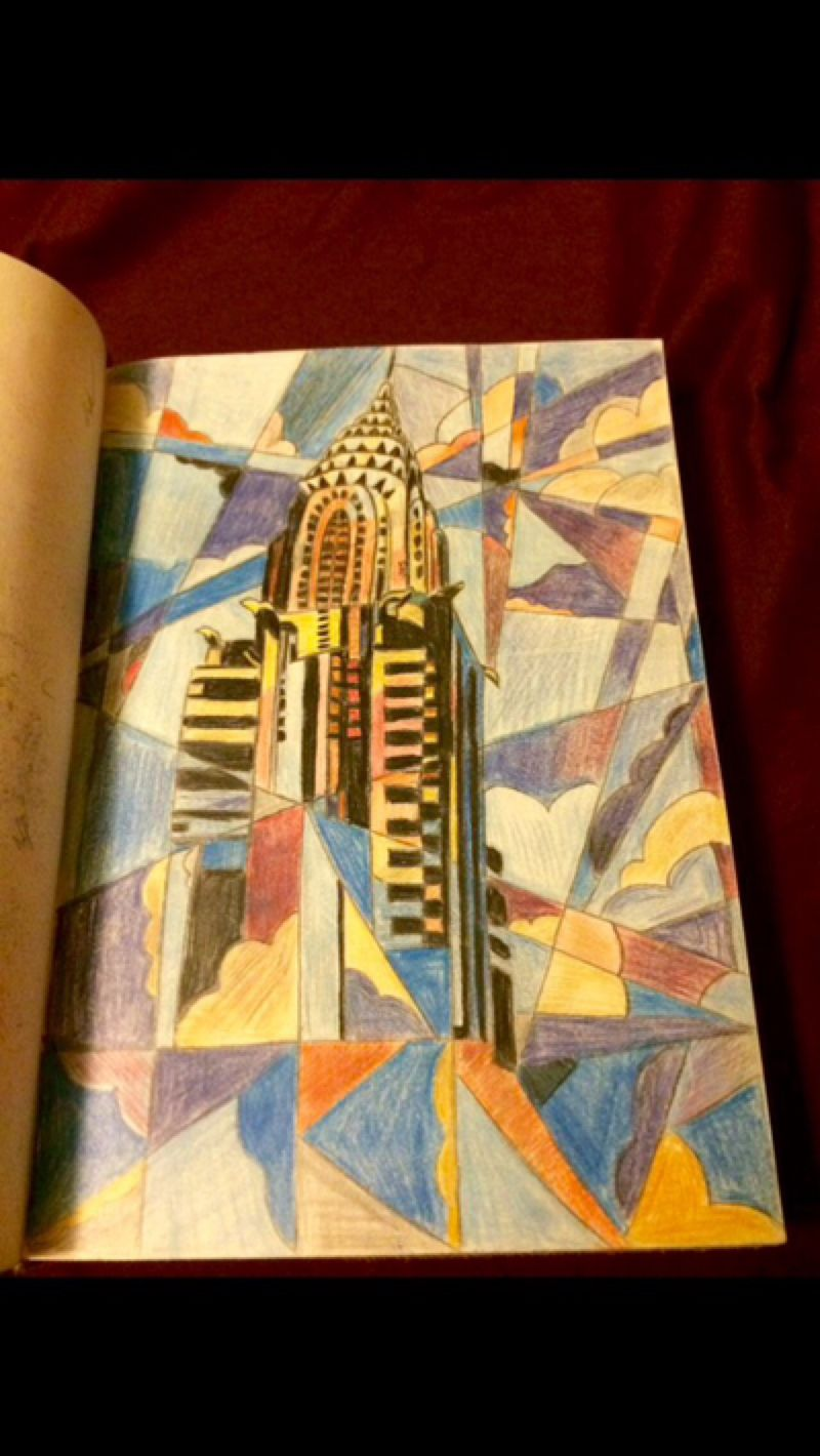 Chrysler Building Painting White Collar Fan Art By Srgtsexy001 On