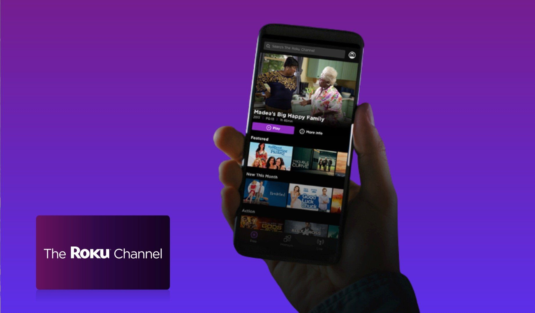 Roku Launches Free App For The Roku Channel Brings Free Streaming Service Without Roku Device Roku Channels Roku Channels Free Roku